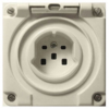 Swiss 16A 3ph socket version with square holes